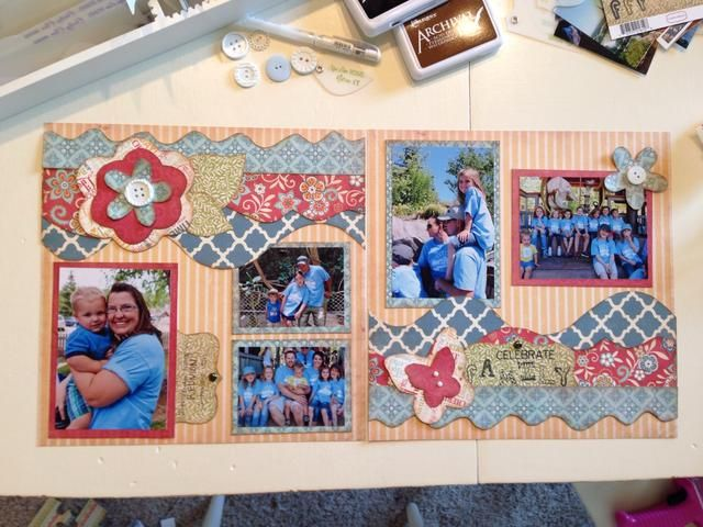 Y tú're done! You have a beautiful layout to preserve your memories and share with loved ones!