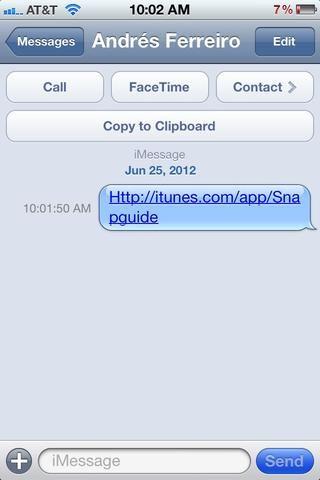 Cuando se recibe el texto que se verá así. Entonces su partido pretende simplemente puede hacer clic y ser llevado a su ubicación directa en el App Store