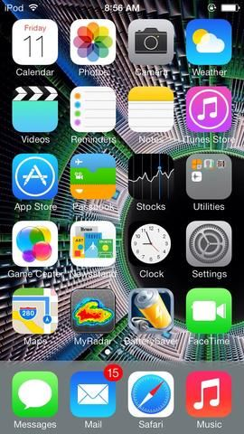 Busque su aplicación Fotos. El mío es en la parte superior y el segundo desde la izquierda.