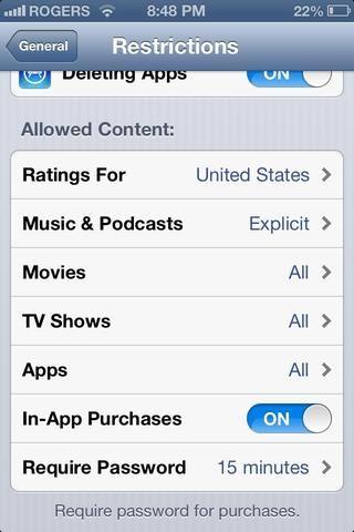 Usted puede cambiar el tipo de contenido que se puede descargar en el dispositivo y calificaciones de qué país