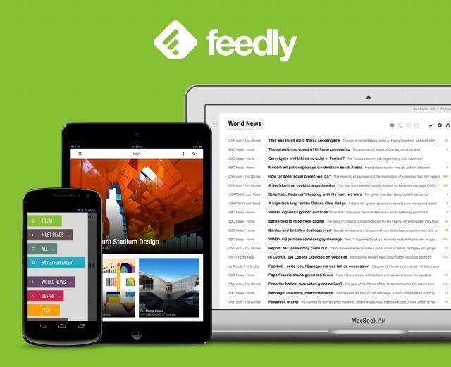 También puede acceder a Feedly través de su teléfono o tableta dispositivo móvil.