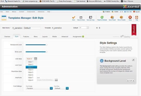 A continuación, seleccione la pestaña de estilo, y escoja el estilo CSS en el cuadro desplegable. Guardar cerrar.