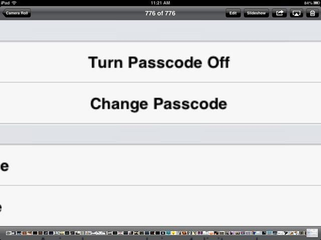Paso 4. Si no't think that you wrote the passcode that you want or you just realized that you didn't want a passcode in the first place, you can press these buttons to change it or turn it off.