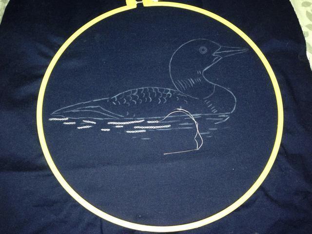 Asegure su tela en el bastidor de bordado. Yo ya había comenzado la costura antes de que tomara el lamento pic. ??????