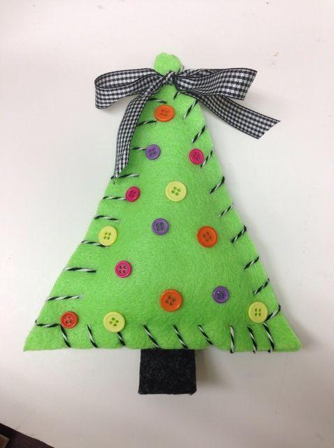 Cómo coser un titular de árbol de Navidad Tarjeta de regalo