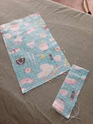 si tu're using starch, spray or dip them, allow the starch to soak into the fibers and then iron dry. If you're using fusible interfacing, follow the manufacturer's directions.