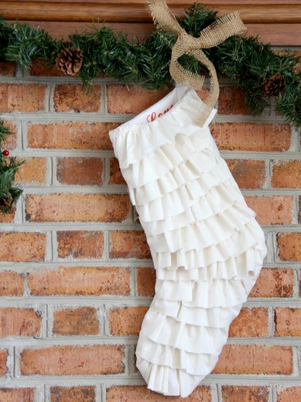 Fotografía - Cómo coser una media de la navidad, la franja de volantes