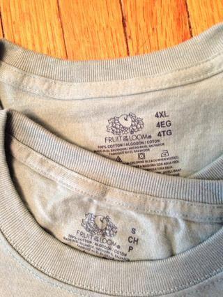 Solía nueva, camisetas a juego, pero usted consigue puntos para la creatividad! Mis-igualada o impreso T's, most weights...it all works.