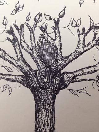 Ahora rayado cruzado en su mejor momento. Utilice esta en las partes internas del árbol.