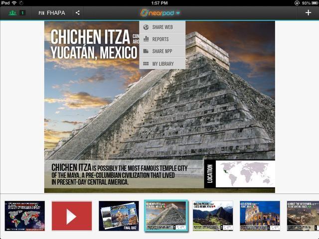 Siempre que quiera, puede elegir la opción Compartir Web en el menú en la parte superior de la pantalla.