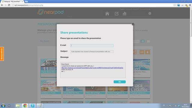 Una pantalla que muestra la bandeja de entrada de correo electrónico mostrará. Introduzca la dirección de correo electrónico de la persona (s) a la que desea enviar el NPP- continuación, haga clic en Ir.