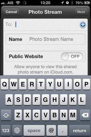 invitar a amigos, crear el nombre del álbum, el sitio web público.
