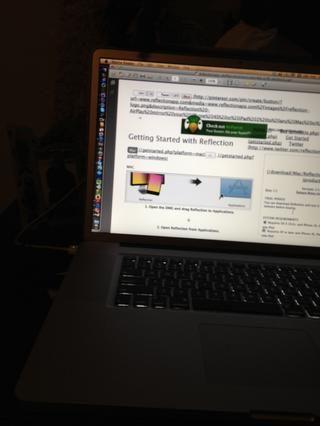 Asegúrese de que usted abra Reflecton desde tu carpeta de aplicaciones en el Mac
