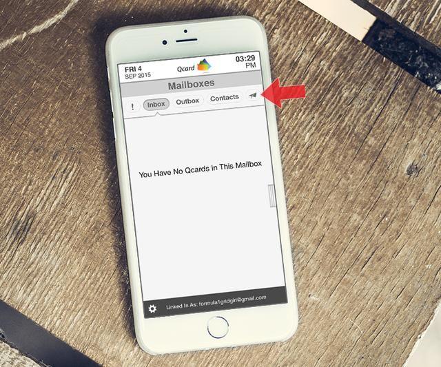 Ahora está enlazado y listo para enviar y recibir Qcards con sus proveedores de amigos, familiares y de salud más cercanos.