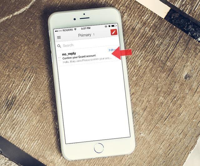 Abra su aplicación de correo electrónico y buscar el correo electrónico enviado por