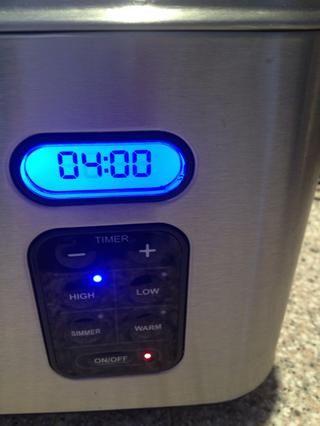 Tapa y configurado su olla de cocción lenta a temperatura alta durante 4 horas.