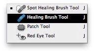 Coge tu cepillo de curación de la barra de herramientas. Se parece a un curita!