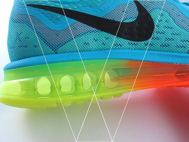 2. Air Max 2014's have a full length Air Unit for maximum impact protection and smooth transitions through foot strikes. Make sure the air