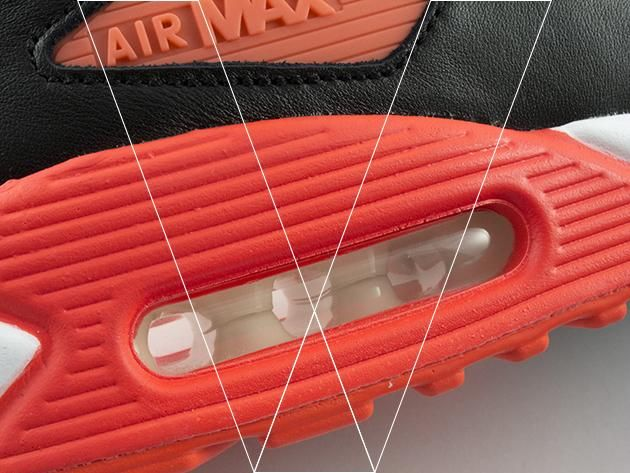 Air Max 90's have Air Unit technology for impact protection. Make sure the air