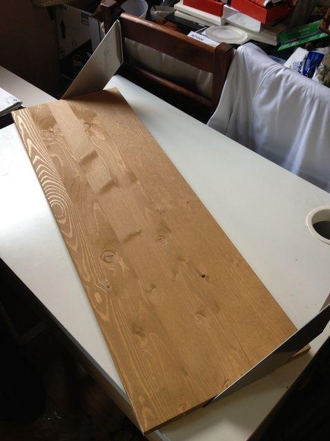 Fotografía - Cómo manchar un estante