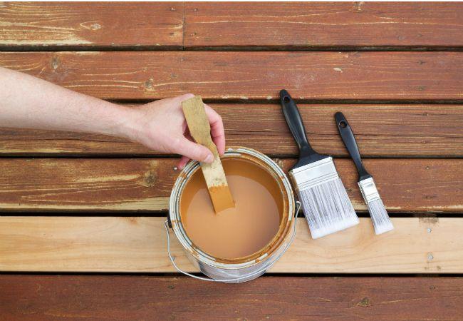 Fotografía - Cómo: madera tratada a presión a las manchas