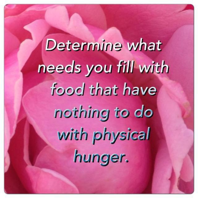 Darles de comer con la diversión, el amor, el auto-cuidado, la crianza y la aceptación.