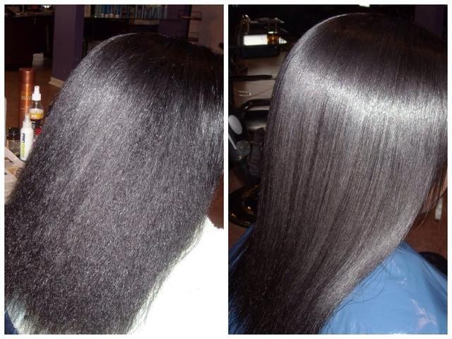 Recuerde que debe trabajar en aseados, secciones limpias que sostienen el pelo de 90 grados de la cabeza para acercarse a las raíces. Un hierro verdadera cerámica o turmalina hará este trabajo 1-pass por sección.