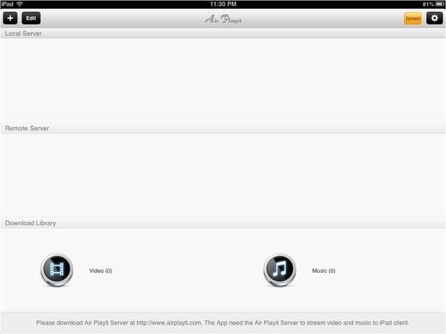 Abra la aplicación en su iPad y toque en el PLUS al TOP-izquierda de la pantalla.