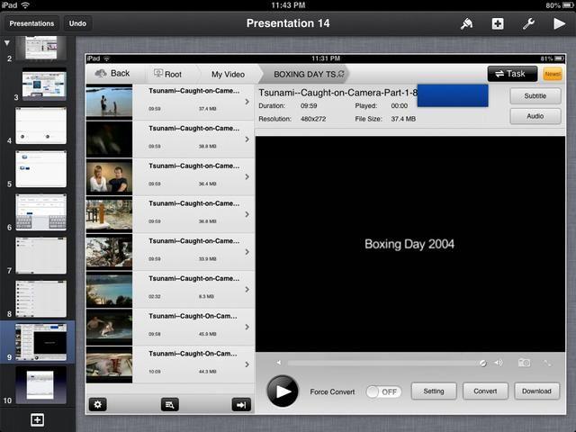Usted recibirá una lista de los videos de la carpeta. Toque un video y presione la flecha JUEGO BLANCO para reproducir un vídeo.