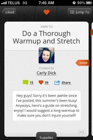 Consulte la guía Carly Dicks'Do a thorough warmup and stretch' for a more comprehensive guide to stretching. Thank goodness she knows what she's doing and is far more flexible. Good work.