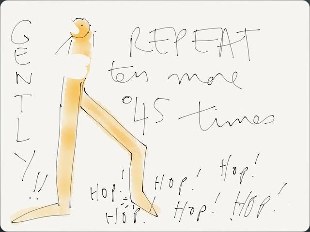 1) Hop a través de 10 repeticiones de extensiones de tobillo usando la pantorrilla para hacer su talón y parte delantera del pie rebote fuera de la tierra. Rebote unas cuantas pulgadas a continuación, volverá a reducirse.