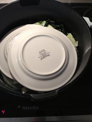 O 2 placas. Añadir agua para cubrir los platos y cocinar a fuego lento durante 1:30 h. dejar enfriar