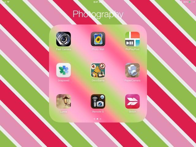 Esta es sólo una muestra de las aplicaciones de fotos que tengo. Sólo he pagado probablemente iPhoto. El resto han venido de Aplicaciones Gone gratuito. Tengo 3 páginas de aplicaciones fotográficas gracias a esta aplicación divertida. ¡Espero que ayude!