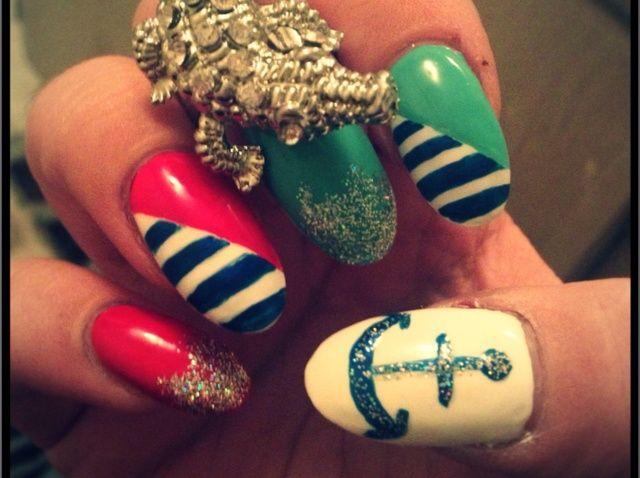 Fotografía - Cómo Summertime Náutico Nails