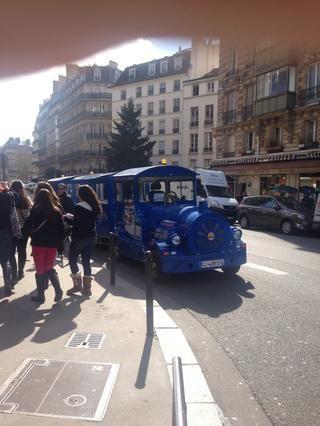 París es hermoso y hay que descubrirlo a pie o en bicicleta en su mayoría, pero este tipo de tren de trampa para turistas vergüenza- es evitar a toda costa. La única buena razón sería que usted es muy antigua ...