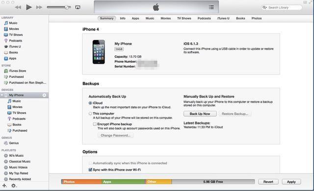Si esta es la primera vez que el dispositivo móvil se sincroniza con iTunes en el ordenador, alambre duro el dispositivo móvil al ordenador con el cable USB adecuado para cable del dispositivo móvil.