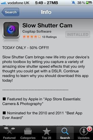 Siguiente compra Slow Shutter Cam App de Cogitap Desarrollador de Software en la App Store.