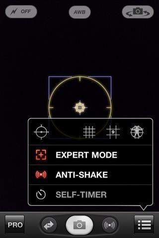 Seleccione el modo experto y cerca de ese menú pulsando en otro lugar de la pantalla.