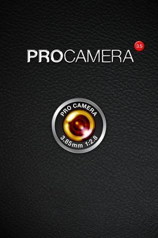 ProCamera ahora ProCamera 7. Una vez que haya descargado ProCamera, abrir la aplicación.