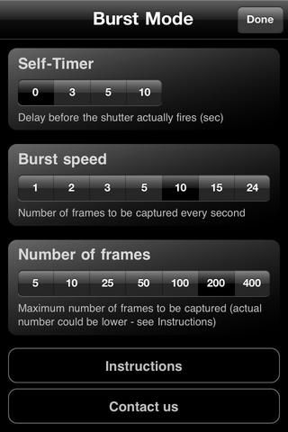 Observe que puede tardar hasta 24 fotogramas por segundo. Eso's the same speed as the movies, but in separate frames as images. It also allows for delay, like doing a time-lapse.