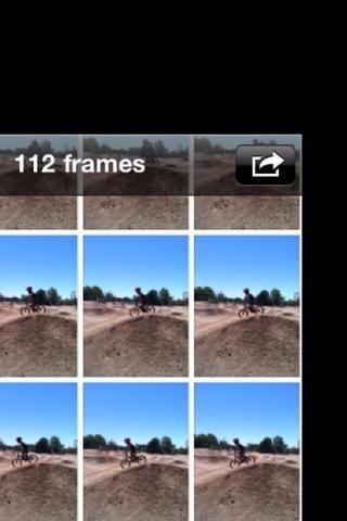 Cuando esté listo para elegir qué foto (s) para guardar, seleccione el botón rectángulo w la flecha en la esquina superior derecha.