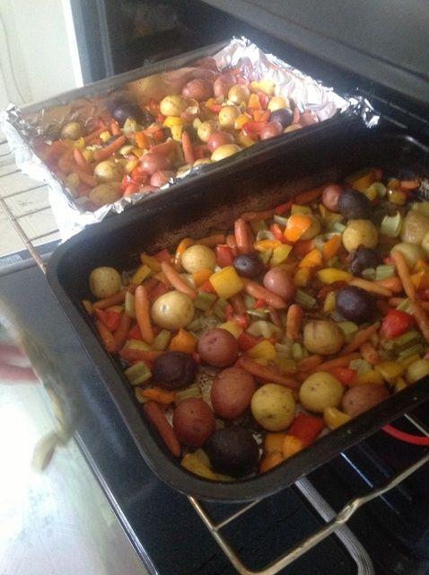 Cómo Verduras Tamari y bebé patatas Receta