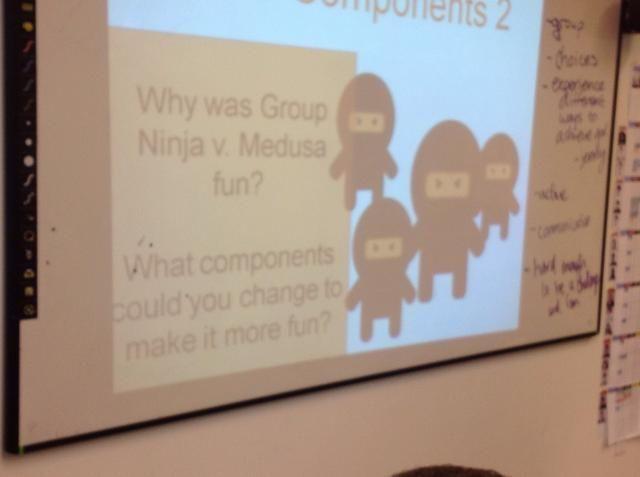 Colocación de la primera diapositiva. Concéntrese en qué los estudiantes pensaban que el juego era o wasn't fun.