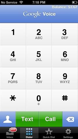 Facebook Like la aplicación gratuita G de voz a cualquier teléfono o dispositivo Android o iOS. Obtener transcripciones de mensajes de voz en su correo gmail, e incluso responder a la voz de texto electrónico wa. Llamar fuera de los Estados Unidos por alrededor de 0,03 p min