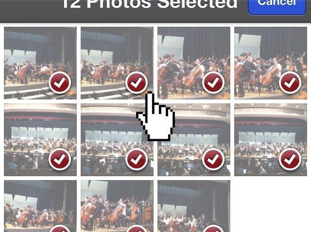 Cómo Texto de varias imágenes a la vez (iPhone / iPad)