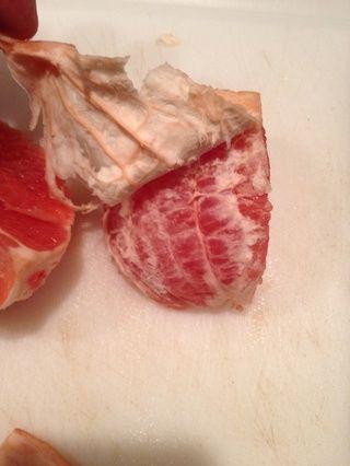 Si alguna médula permanece unido a la fruta ligeramente llevarlo a la espalda. Algunos pueden permanecer, pero la mayoría debe salir fácilmente. ¡Disfrutar!