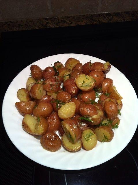 Fotografía - Cómo El lado perfecto - patatas asadas en el microondas