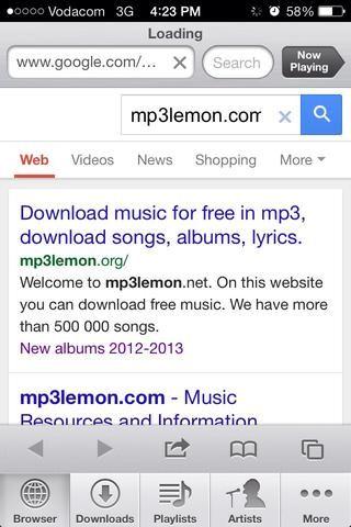 Una vez que la página se ha cargado, abra el primer sitio en la página de google.