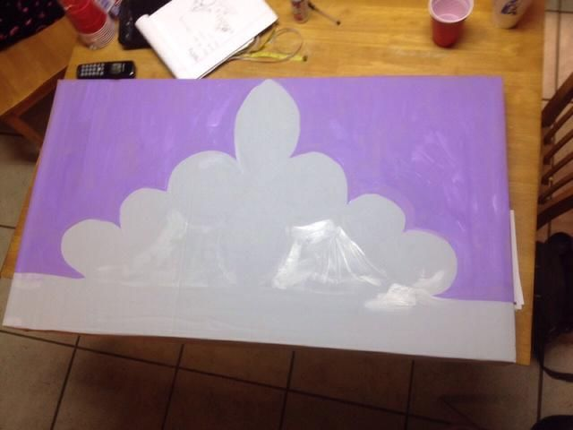 Princesa púrpura fue utilizado como el fondo, y agregar dimensión a la fotografía.