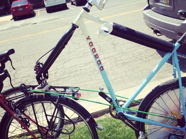 Cómo remolque una bicicleta